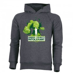 ANIMAL CRUELTY INTOLERANT men's hoodie