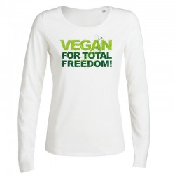 VEGAN FOR TOTAL FREEDOM ladies longsleeve
