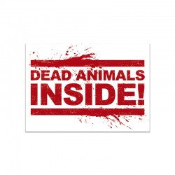 DEAD ANIMALS INSIDE mini sticker