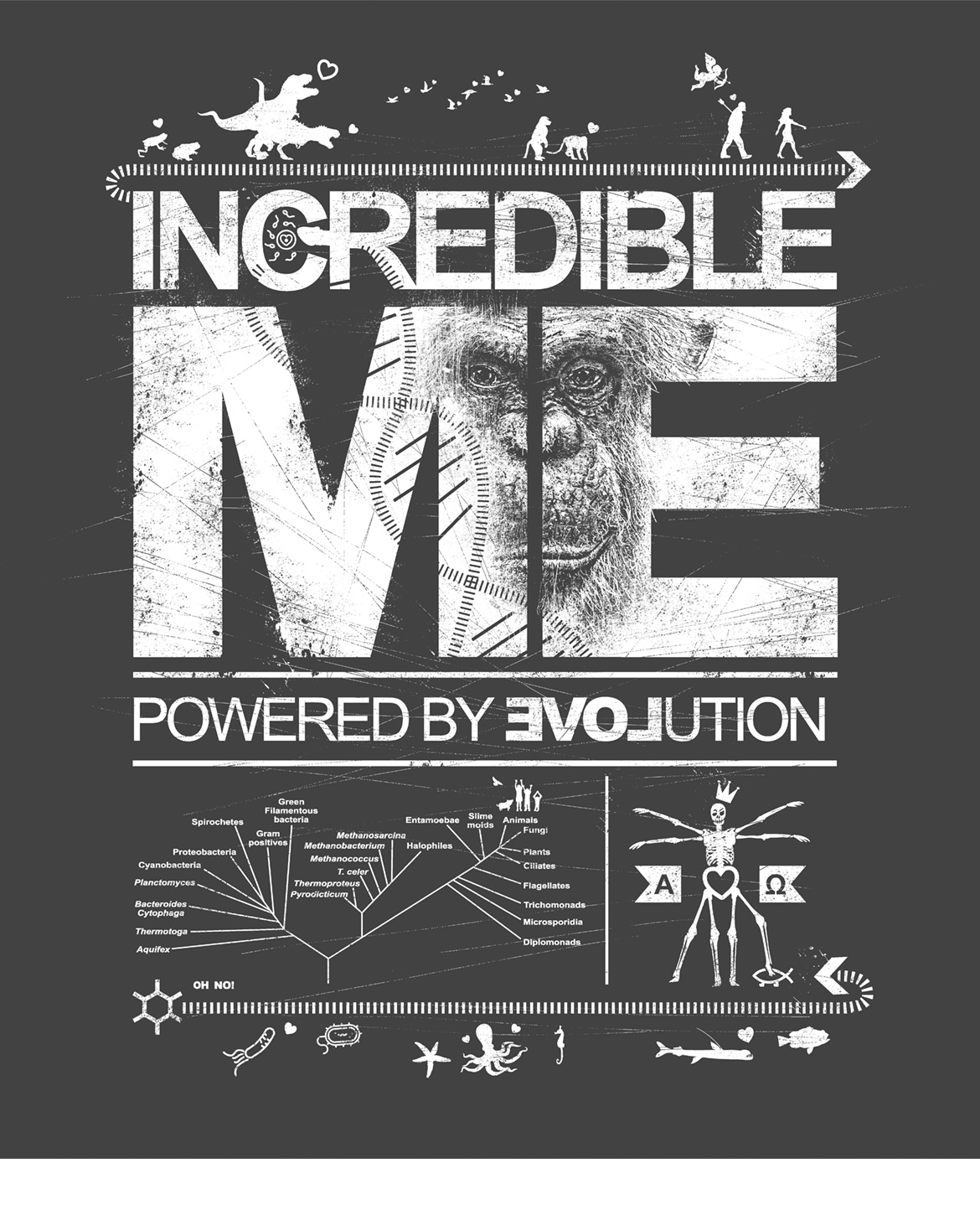 INCREDIBLE ME – HUMAN ANIMALS shirt design by Roland Straller