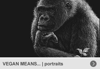 """VEGAN MEANS... – Portraits von pflanzenessenden """"Vorbildern"""""""