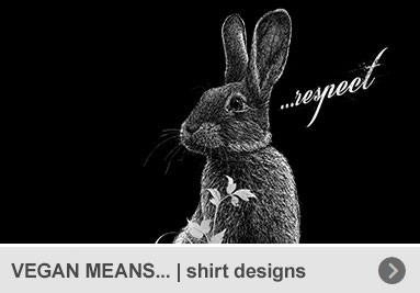 VEGAN MEANS... – shirt designs for herbivores